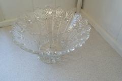 Glas, Skål Flot gammel krystal skål, perfekt stand. Ø 23 cm h 11 cm