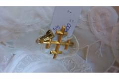 Guld vedhæng, stempel: FM 14 k kr. 600,00