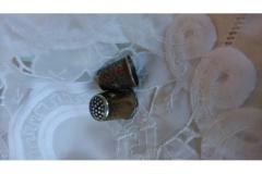 Sølv fingerbøl, 3 tårnet kr. 100,00 pr. stk
