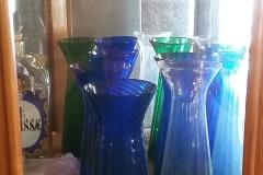 Gl. Hyacintglas i forskellige farver