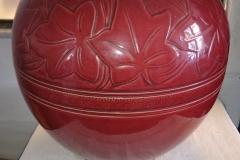 Vase/krukke rødbrun glasur højde 38 cm Kr. 5.000,00