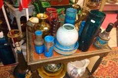 Diverse glas, keramik, porcelæn, lamper, vaser, krukker o.s.v.